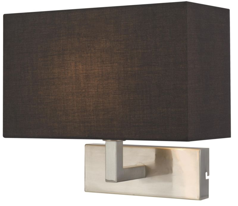 Colours Wollstone Fabric Shade Wall Light - review, compare prices, buy online