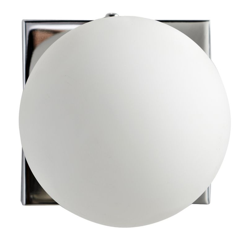 Boswell 1 Light White Bubble Bathroom Light