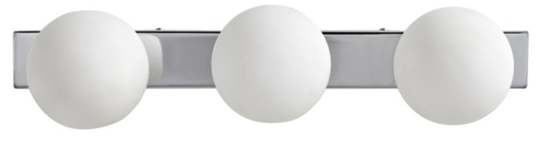 Boswell 3 Lights White Bubble Bathroom Light