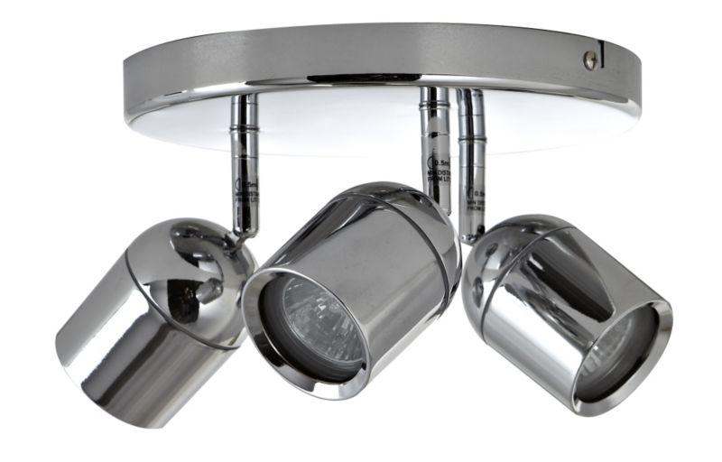 Modern Chrome Ice Cube 3 Way Ip44 Bathroom Ceiling Light: Ip44 Spot Light
