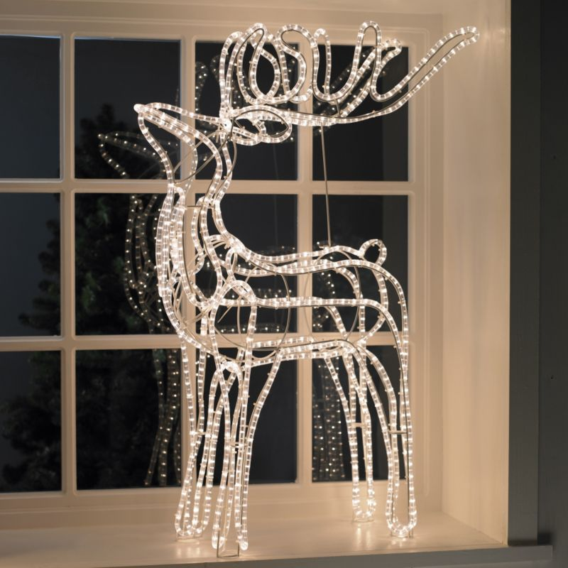 B&Q 3D Clear Rope Light Reindeer