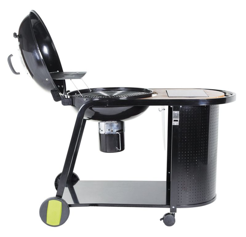 Blooma Kinley Kettle Charcoal Trolley Barbecue