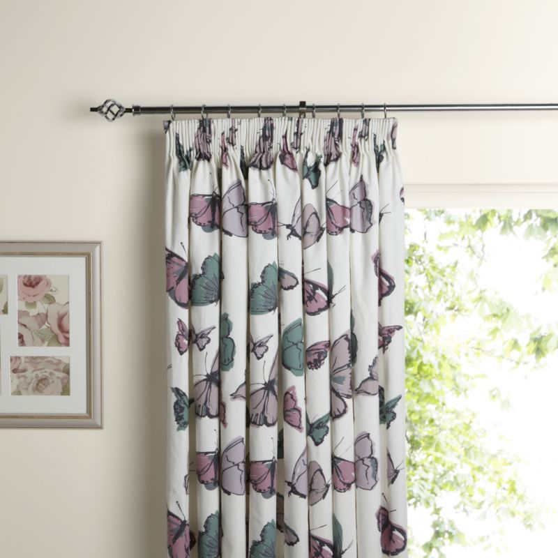Olivio Butterfly Curtains Butterfly White Cafe Net