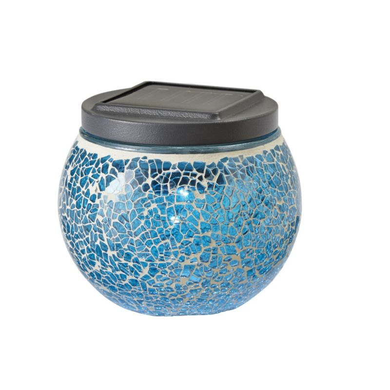 Eaton Blue Mosaic Solar Table Light