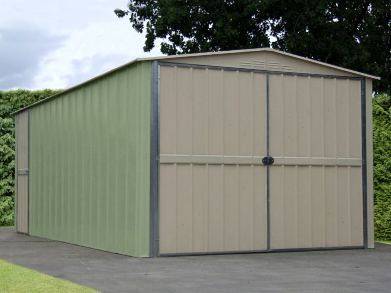 Canberra Garage Green & Cream 10x19ft