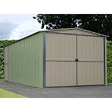 Save on this Canberra Garage Green & Cream 10x17ft