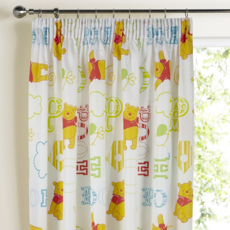 Disney Winnie the Pooh Winne The Pooh Multicolour Curtains (137x167cm)