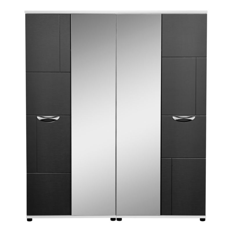 Torus 4 Door Centre Mirror Wardrobe Black Wardrobe Review Compare Prices