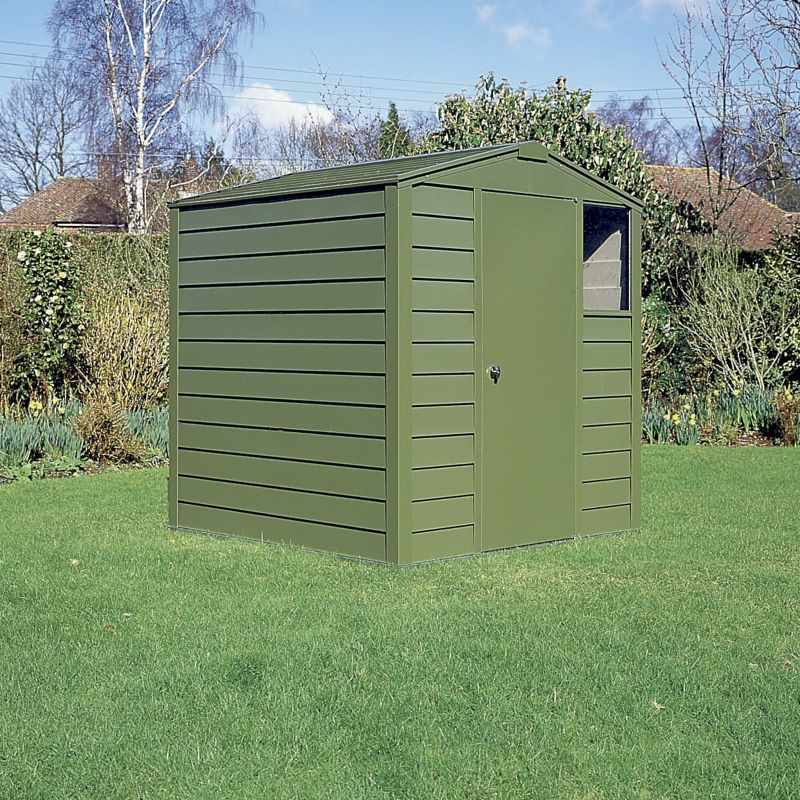 Titan Metal Shed - Model 680 - (H) 6ft10in x (W) 6ft1in x (D) 8ft1in