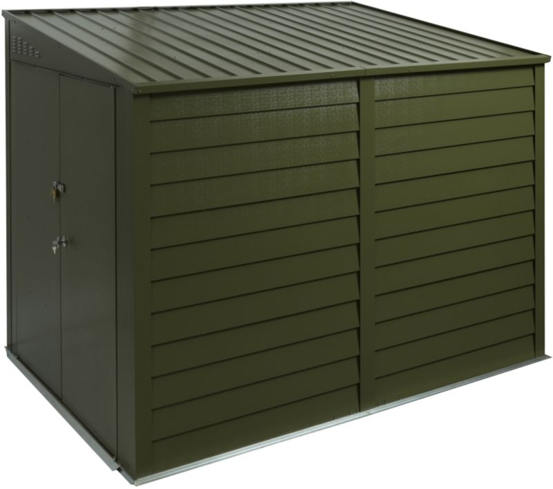 Trimetals High-Security Green Metal Motorbike Shed