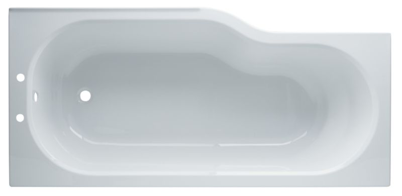 Right-Handed Showerbath White