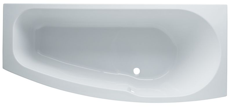 Barcelona Compact Shaped Acrylic Bath White