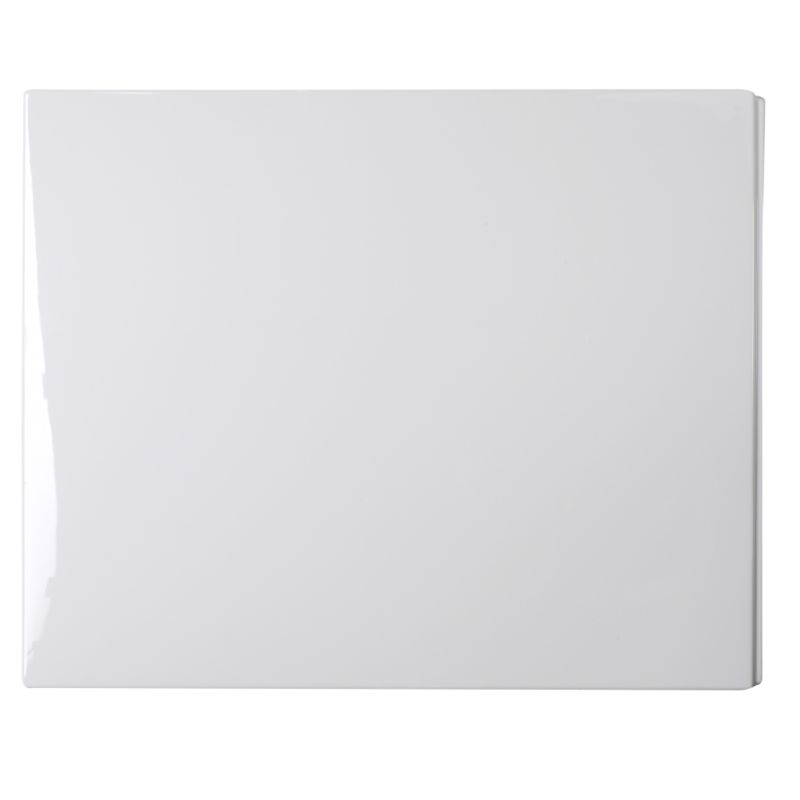 Barcelona Compact End Panel (Wide End) White (W)750mm