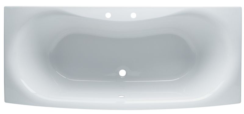 Seattle Straight Acrylic Bath White