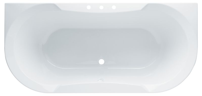 Rossini Shaped Acrylic Bath White