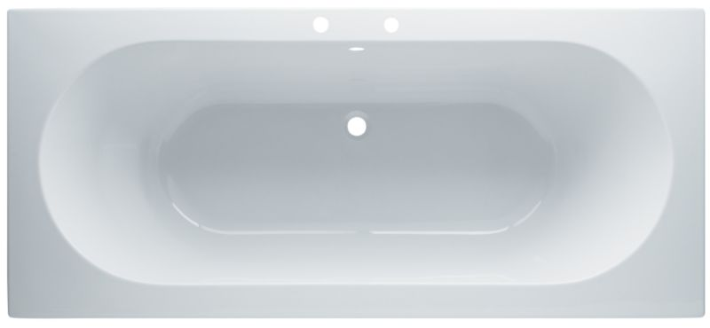 Nuance Acrylic Straight Bath White (L)1800 x (W)800mm
