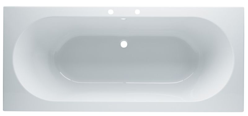 Nuance Acrylic Straight Bath White (L)1700 x (W)750mm