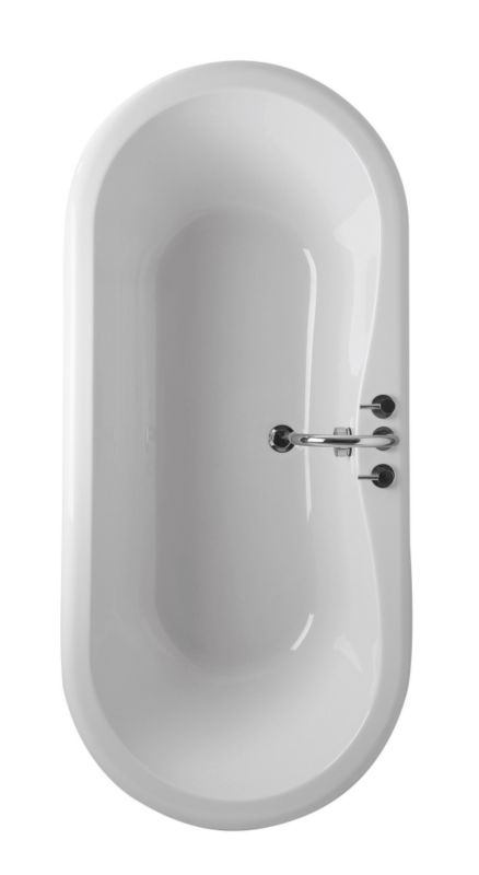 Oval Acrylic Bath White