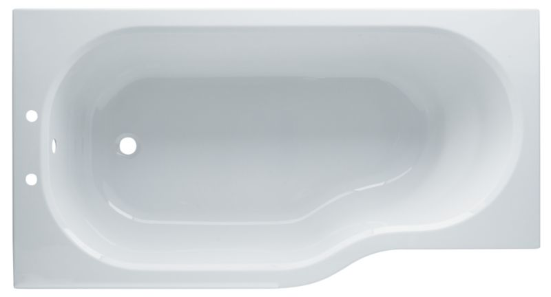 Petite Acrylic Shower Bath White