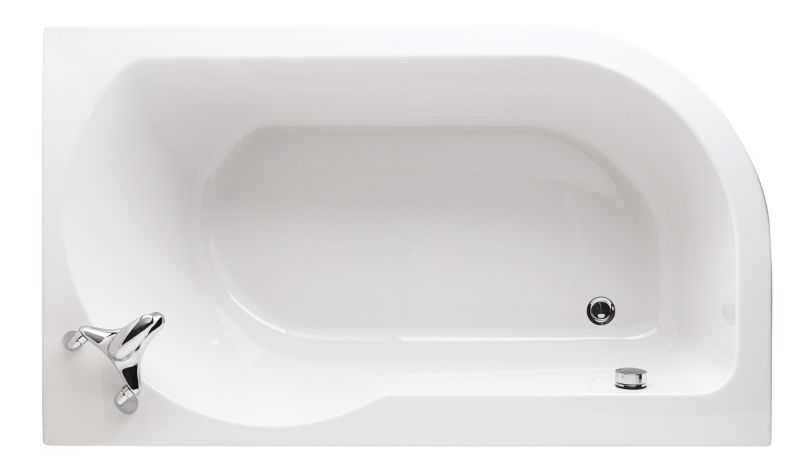 Right-Handed Loft Acrylic Shaped Bath White
