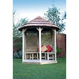 Save on this Premium Thatched Loggia With Roof Lining - (H) 3m x (W) 2.7m x (L) 2.2m