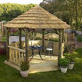 Save on this Classic Thatched Loggia With Roof Lining - (H) 3m x (W) 3.1m x (L) 2.6m
