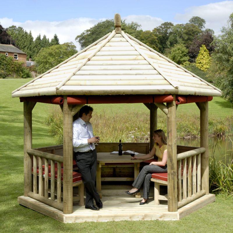 Royal Timber Roof Gazebo Green Waterbased