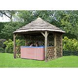 Save on this Cottage Gazebo Green Waterbased