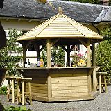 Save on this Sundowner Bar With Timber Roof Green Waterbased