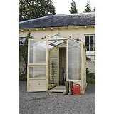 Save on this Model 6x6 - M&M Timber Bayton Duo Greenhouse