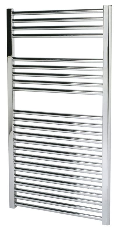 Kudox Flat Chrome Towel Radiator 1100 x 600mm