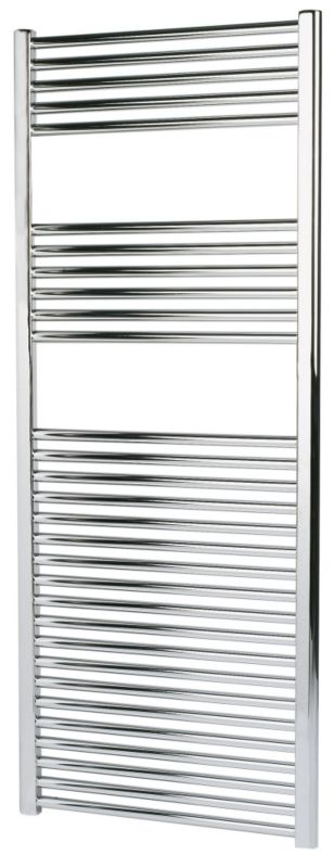 Kudox Flat Chrome Towel Radiator 1500 x 600mm