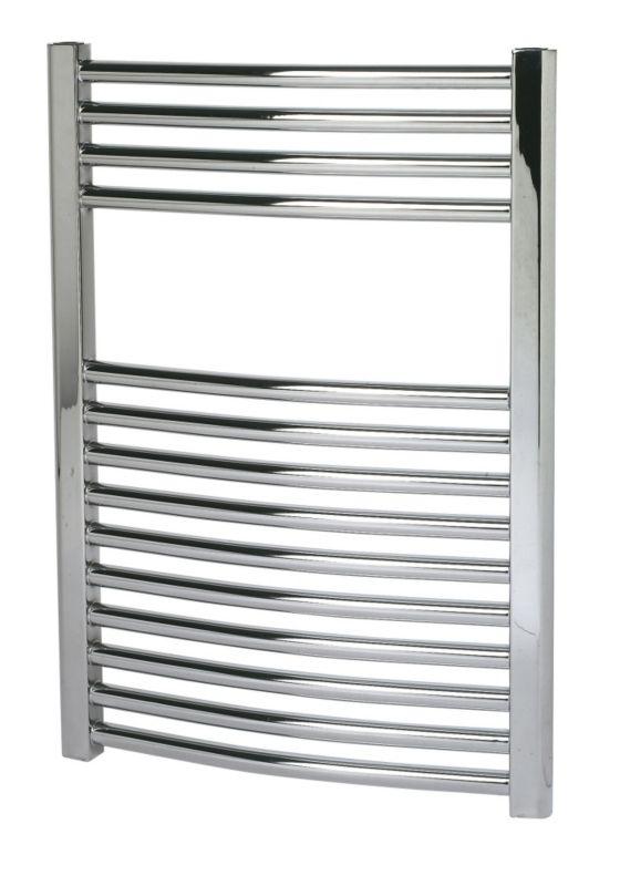 Kudox Curved Chrome Towel Radiator 700 x 500mm