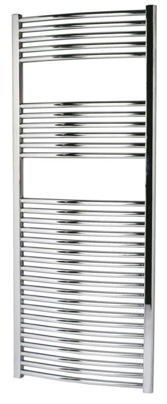 Kudox Curved Chrome Towel Radiator 1500 x 600mm