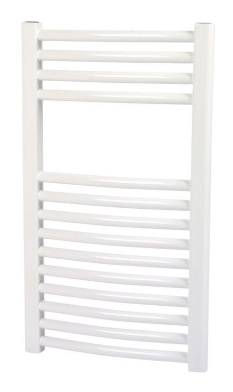 Kudox Curved White Towel Radiator 700 x 400mm