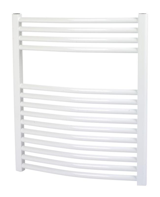 Kudox Curved White Towel Radiator 700 x 500mm