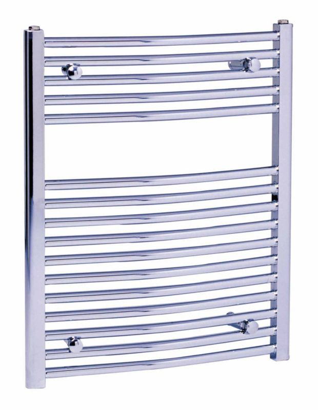 BandQ Curved Towel Warmer Chrome 600 x 750mm