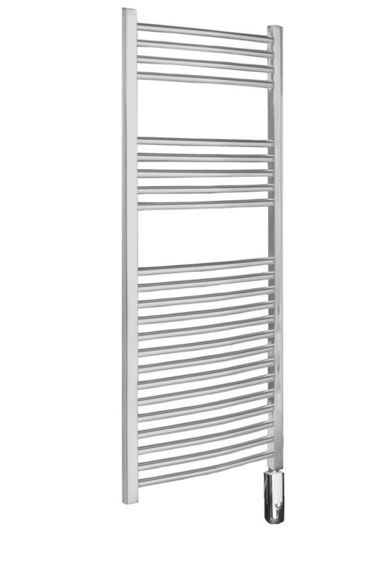 Kudox Curved Chrome Electric Thermo Radiator