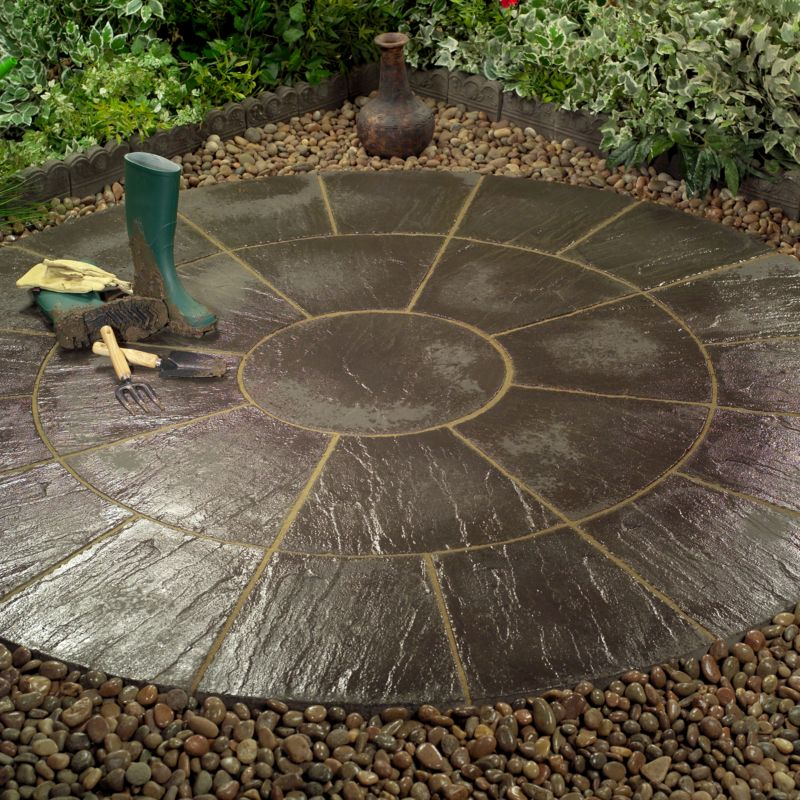 Circle Paving, Lunar, 2.4m diameter
