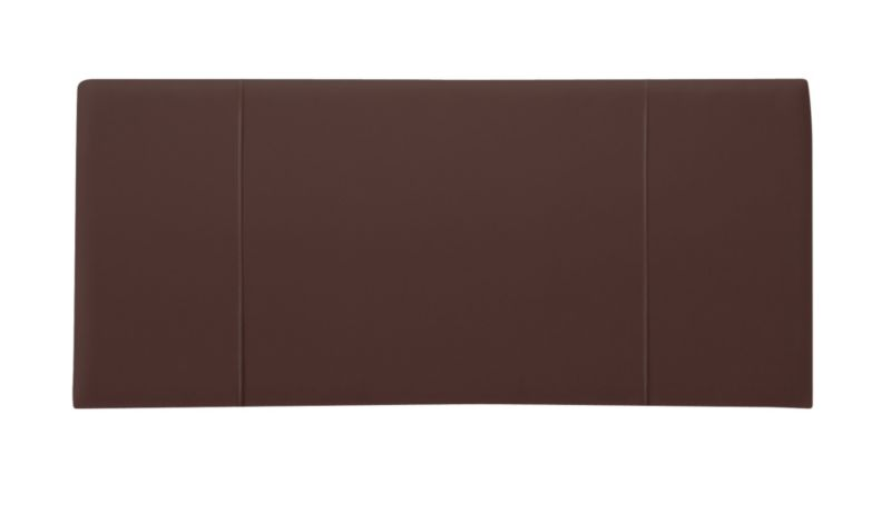 Double Faux Leather Headboard Brown