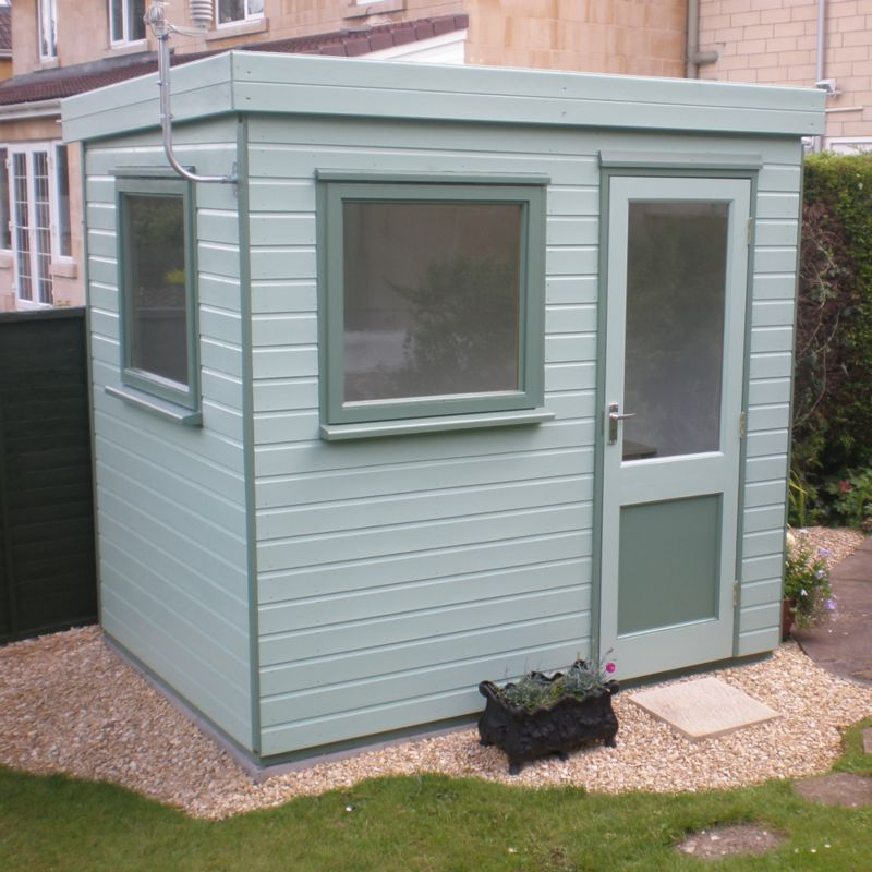 Henley Solus Garden Office & Room With Right Hand Door Including Assembly - (H) 2.3m x (W) 2.4m x (D) 1.8m