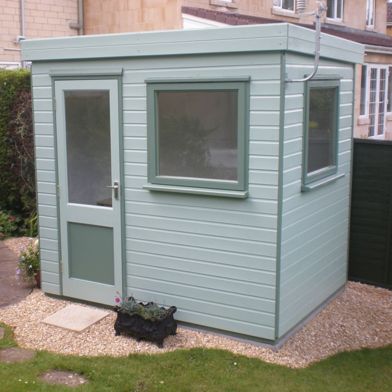 Henley Solus Garden Office & Room With Left Hand Door Including Assembly - (H) 2.3m x (W) 2.4m x (D) 1.8m