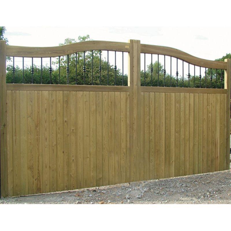 Hythe Railing Topper Courtyard Gate (H)1.8m x (W)3.1m