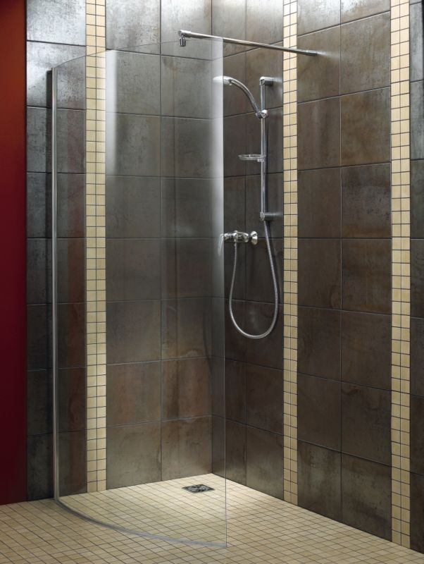 Walk-in Curved Shower Screen