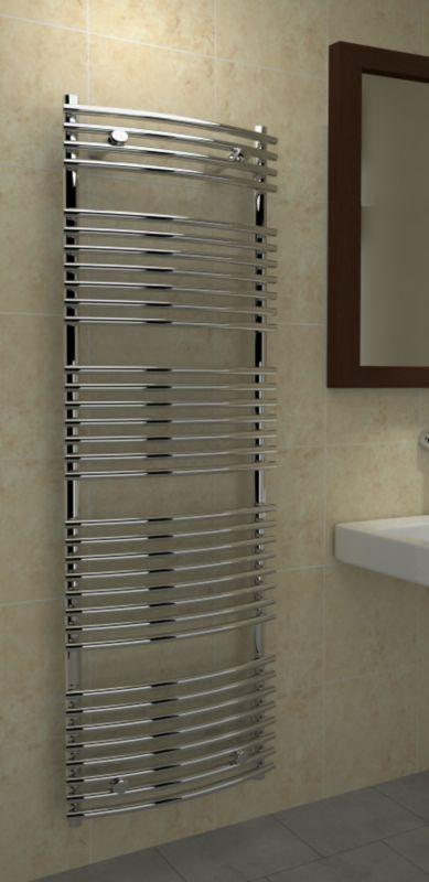 Kudox 450X1674mm Tube On Tube Chrome Towel Warmer