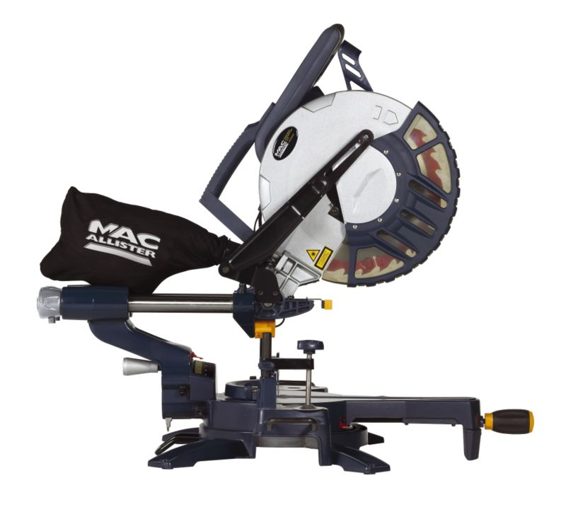 MacAllister Double Bevel Slide Compound Mitre Saw (L)305mm 1800W