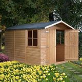 Save on this 10x7 Double Door Shiplap Wooden Shed - Home Delivered With Assembly & Base