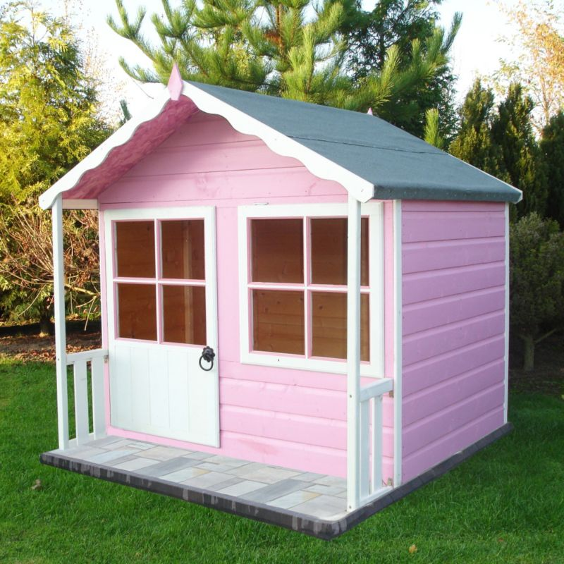 Wooden playhouse for Wooden wendy house ideas