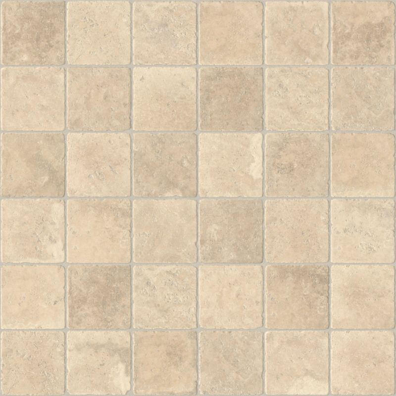 B q colours valiha cream stone tile effect vinyl for Stone effect vinyl flooring