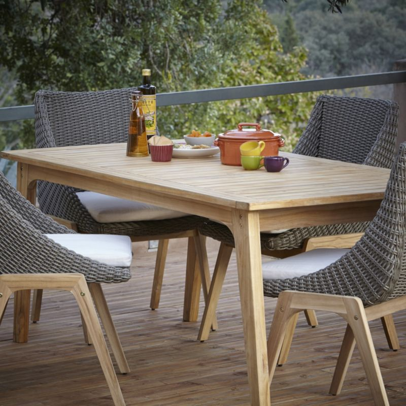Blooma Retro Rattan Effect 4 Seater Dining Set Dining Room